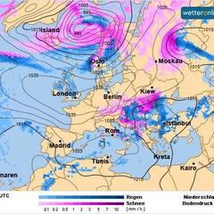 З Балкан на Україну суне циклон «Петер» (фото)
