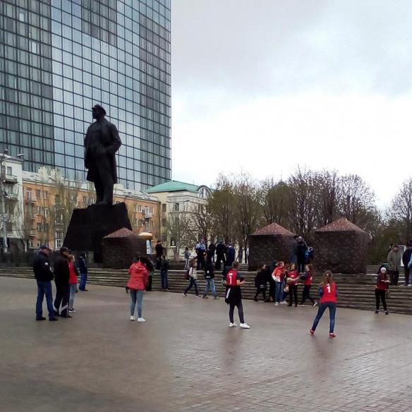 Бойовики зірвали мітинг шахтарів в окупованому Донецьку (фото)