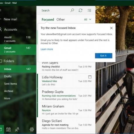 Користувачі Gmail отримають доступ до «сортування» листів і інших можливостей Windows 10