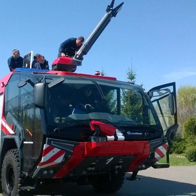 Для бориспільського аеропорту придбали пожежний автомобіль нового зразка (відео)