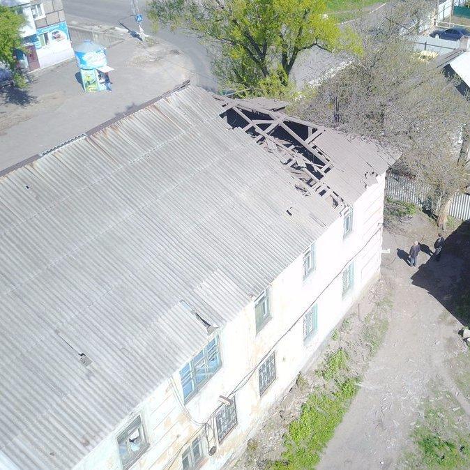 В окупованій Мар'їнці прогримів вибух у військоматі (фото)