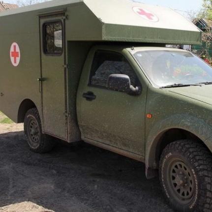 В зону АТО почали надходити нові санітарні автомобілі «Богдан» (фото)