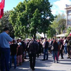 У Запоріжжі відбувалися сутички між проукраїнськими активістами та учасниками акції «Полк перемоги»