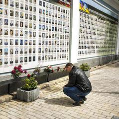 Біля стіни пам'яті на Михайлівській площі пройшла панадиха за загиблими бійцями АТО