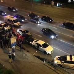 У центрі Києва після погоні патрульних сталося потрійне ДТП (фото, відео)