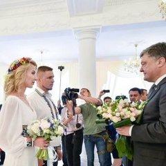 В Одесі Порошенко відвідав весілля бійця АТО (відео)