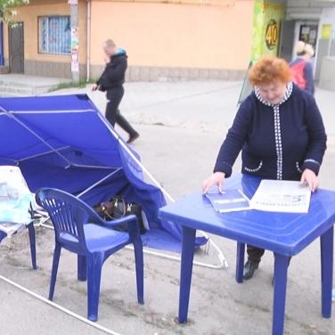 «Розбив намет та обматюкав»: у Лисичанську депутат від «Самопомочі» напав на жінок-активісток від «Опоблоку»