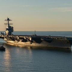 ВМС США отримали найсучасніший авіаносець Gerald R. Ford
