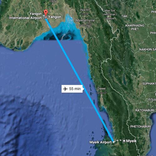 Уламки зниклого у М'янмі літака виявили у морі
