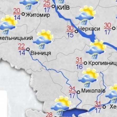На Україну сунуть літні дощі, грози, шквали