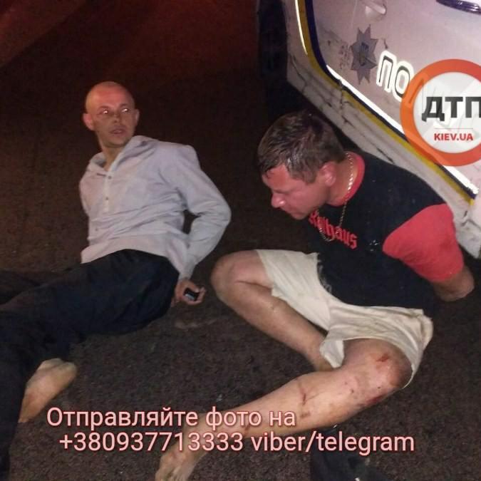 У Києві п'яна компанія влаштувала ДТП з авто поліції