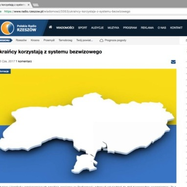 Польське радіо продемонструвало безвіз України картою без Криму (фото)
