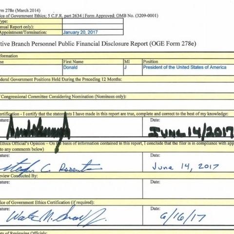 Опубліковано фінансову декларацію Дональда Трампа