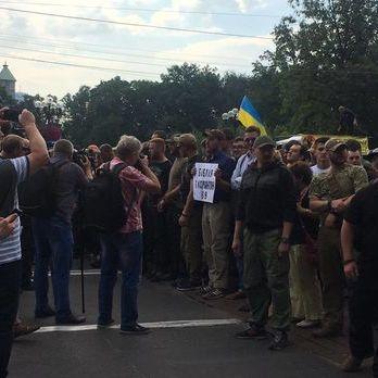 Близько сотні противників Маршу рівності в Києві вишикувалися в ланцюг - поліція