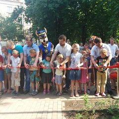 У Солом'янському районі відкрито оновлений сквер (фото)