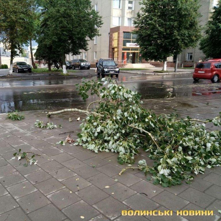 Луцьком пронеслась потужна буря (фото, відео)