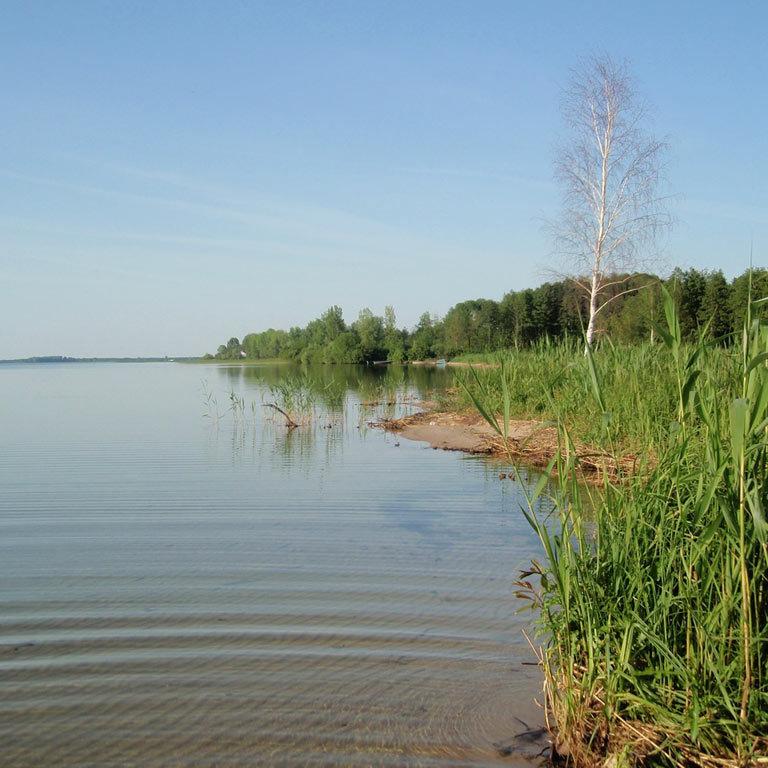 На Київщині знаходиться неймовірне блакитне озеро