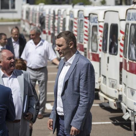 Віталій Кличко: «Ми плануємо впродовж двох років значно оновити автопарк «швидких»