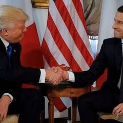 Під час зустрічі Трампа із Макроном було обговорено Україну