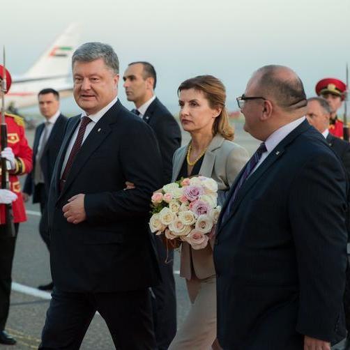 Порошенко із офіційним візитом прибув до Грузії (фото)