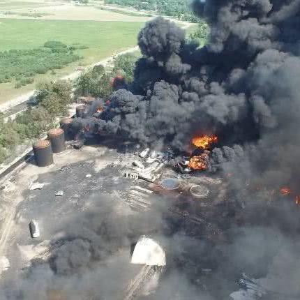 На Київщині на нафтобазі «БРСМ» знову сталося загорання