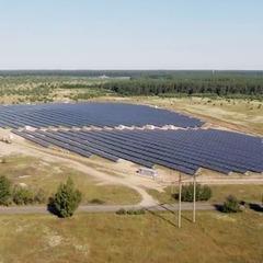 Під Києвом запустили приватну сонячну електростанцію