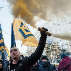 На Майдані пройшов мітинг проти позбавлення громадянства Саакашвілі
