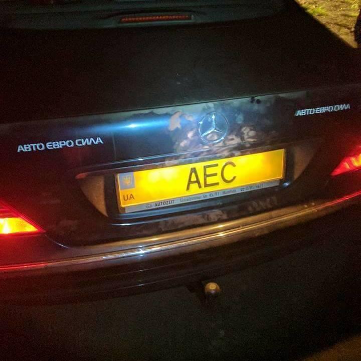 Під Києвом обстріляли авто голови об'єднання власників машин на єврономерах (фото)