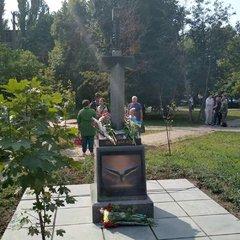 У Києві відкрили пам'ятник ветеранам АТО у вигляді меча в карті Росії (фото, відео)
