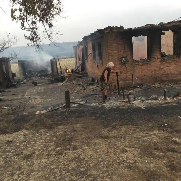 Пожежа майже знищила маленьке село на Донеччині