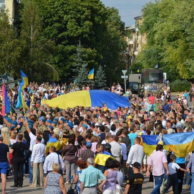 Українські прапори та вишиванки: як у Краматорську відсвяткували День Незалежності (фото, відео)