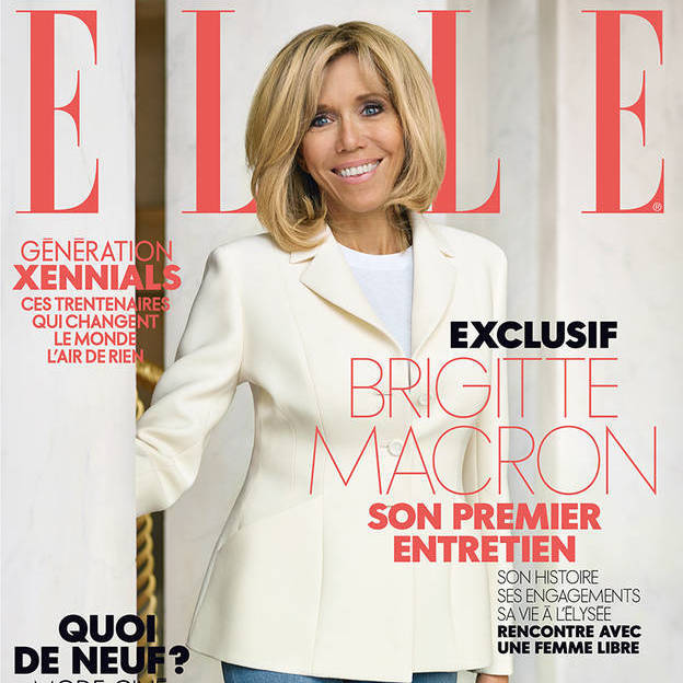 Номер журналу Elle з інтерв'ю Бріжит Макрон побив рекорд продажів