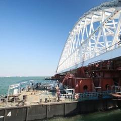 З'явилися нові фото із будівництва Керченського моста