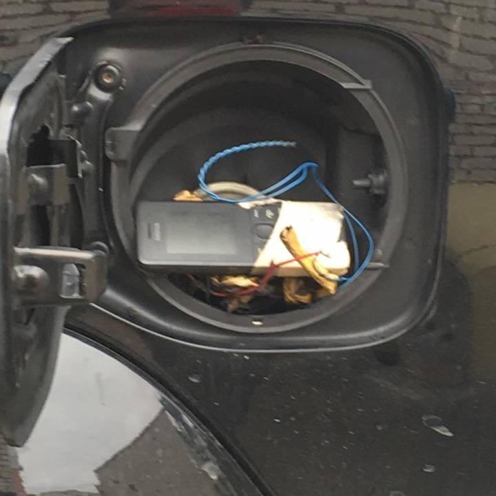 Депутат знайшов у своєму авто вибухівку (фото)