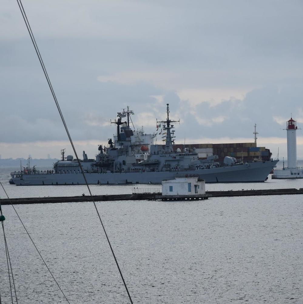 Сьогодні до порту Одеси прибув есмінець ВМС Італії  (фото)