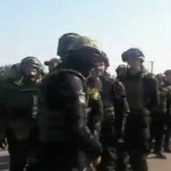 Поліція знову зупинила автоколону, яка рухалась на зустріч із Саакашвілі