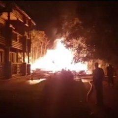 В Одесі спалахнув дитячий табір (відео)