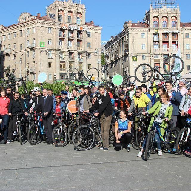 «Велосипедом на роботу»: у Києві відбудеться флешмоб