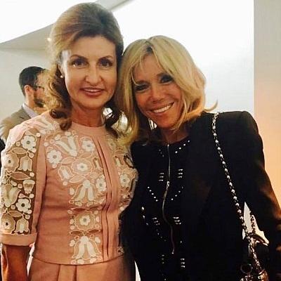 Марина Порошенко одягла сукню від українського дизайнера на зустріч із Бріджит Макрон (фото)