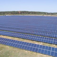 Найбільша у Київській області сонячна електростанція має більше 22 тисяч модулів (фото)
