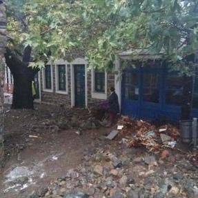 На грецькому острові Самотракі оголошено надзвичайний стан через шторми (фото)