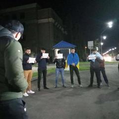 Кримські татари вночі пікетували посольство Росії (фото)