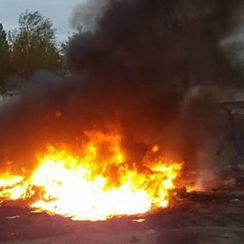 У Кропивницькому просто неба палили токсичні відходи (фото)
