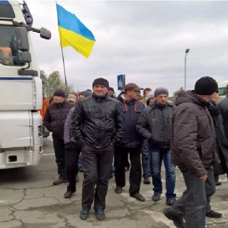 Шахтарі перекрили дорогу на Варшаву