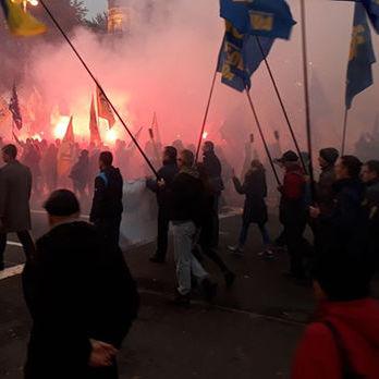 У «Марші слави героїв» у Києві брало участь приблизно 10 тис. осіб – поліція
