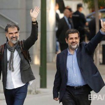 Суд Мадрида постановив узяти під варту двох каталонських націоналістів, обвинувачених у заколоті