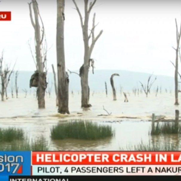 У Кенії гелікоптер впав в озеро: п'ятеро загиблих (відео)