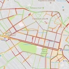 Київ «паралізували» вечірні затори (карта)