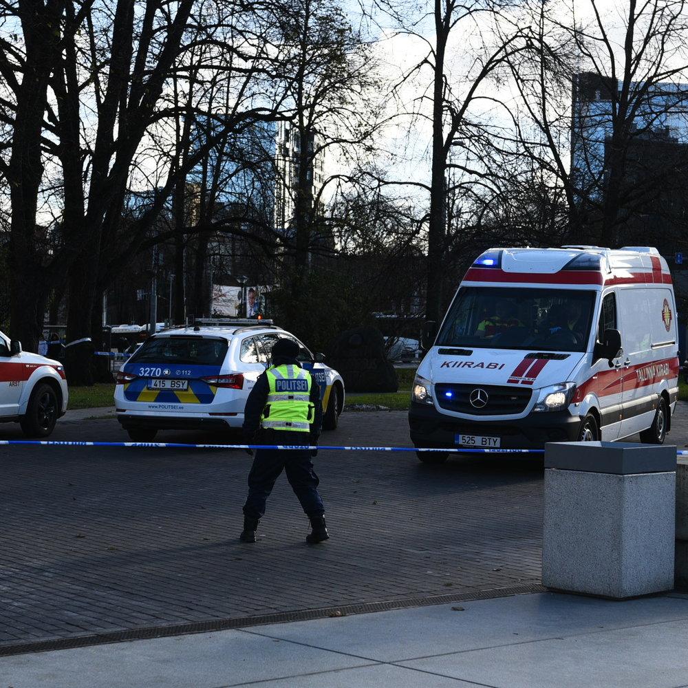 У центрі Таллінна поліція застрелила чоловіка, що розмахував ножем (відео)