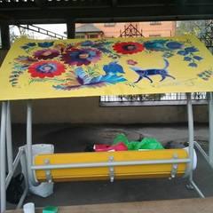 На схилах Парку Слави з'являться «петриківські» гойдалки (фото)